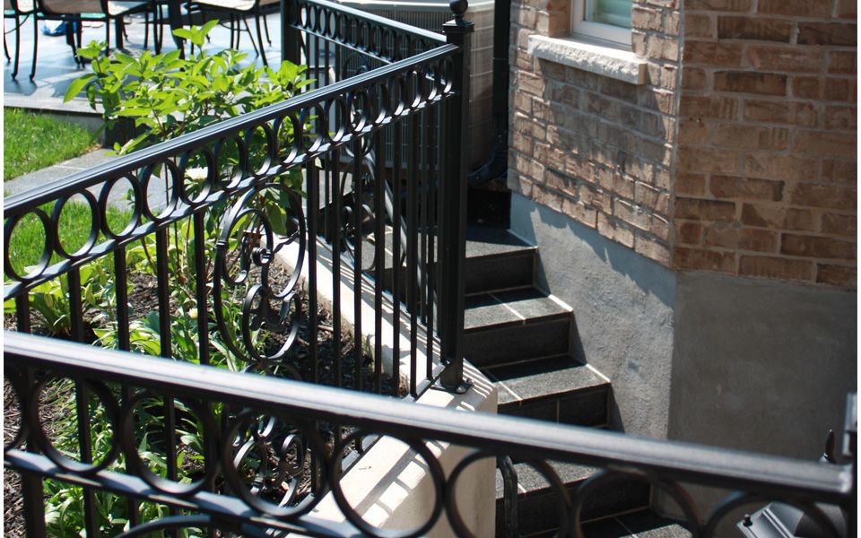 steps and railing